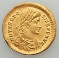 Ancients:Roman Imperial, Ancients: Theodosius I the Great (AD 379-395). AV solidus (4.45gm)....