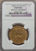 Chile, Chile: Republic 4 Escudos 1834 So-IJ VF Details (Surface Hairlines)NGC,...