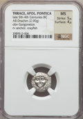 Ancients:Greek, Ancients: THRACE. Apollonia Pontica. Ca. 4th century BC. AR drachm(2.90 gm)....