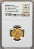 Ancients:Roman Imperial, Ancients: OSTRAGOTHIC ITALY. Theodoric I the Great (AD493-526). AV solidus (21mm, 4.45 gm, 6h)....