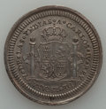 Mexico, Mexico: Charles IV silver Proclamation Medal of 2 Reales UNC -Cleaned,...