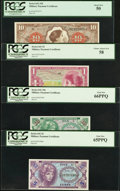 Military Payment Certificates:Series 641, Series 641 MPCs PCGS Graded.. ... (Total: 4 notes)