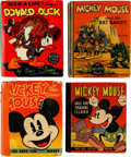 Big Little Book:Miscellaneous, Mickey Mouse and Donald Duck Big Little Book Group (Whitman,1935-39).... (Total: 4 Items)