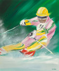 Paintings, Victor Spahn (French, b. 1949). Ski. Acrylic on canvas. 29 x 24 inches (73.7 x 61.0 cm). Signed lower right: Spahn. ...