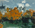 Paintings, Michel Rodde (French, 1913-2000). Montreuil-Bellay. Oil on canvas. 39-1/2 x 32 inches (100.3 x 81.3 cm). Signed lower ri...
