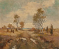 Fine Art - Painting, American:Contemporary   (1950 to present)  , Bernard Funke (German, 1902-1988). Autumn Landscape. Oil onmasonite. 19-3/4 x 23-3/4 inches (50.2 x 60.3 cm). Signed in...