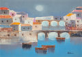 Fine Art - Painting, European:Contemporary   (1950 to present)  , Lido Bettarini (Italian, b. 1938). Florence. Oil on canvas.21 x 29 inches (53.3 x 73.7 cm). Signed lower right:Betta...