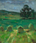 Fine Art - Painting, European:Contemporary   (1950 to present)  , Richard (French, 20th Century). Landscape. Oil on canvas.15-1/2 x 13 inches (39.4 x 33.0 cm). Indistinctly signed lower...