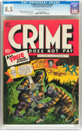 Golden Age (1938-1955):Crime, Crime Does Not Pay #29 (Lev Gleason, 1943) CGC VF+ 8.5 Off-white to white pages....