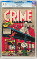 Golden Age (1938-1955):Crime, Crime Does Not Pay #30 (Lev Gleason, 1943) CGC VF/NM 9.0 Off-white to white pages....