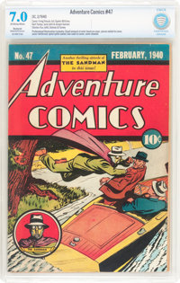 Adventure Comics #47 (DC, 1940) CBCS Restored FN/VF 7.0 Moderate to Extensive (P) Off-white to white pages