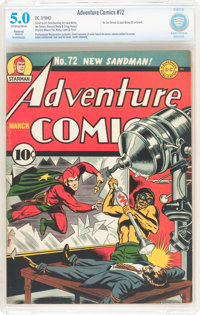 Adventure Comics #72 (DC, 1942) CBCS Restored (Moderate) VG/FN 5.0 Off-white to white pages