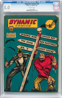 Dynamic Comics #10 (Chesler, 1944) CGC VG/FN 5.0 Off-white pages