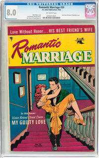 Romantic Marriage #24 (Ziff-Davis, 1954) CGC VF 8.0 Off-white pages