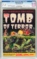 Golden Age (1938-1955):Horror, Tomb of Terror #16 (Harvey, 1954) CGC VF- 7.5 Cream to off-whitepages....