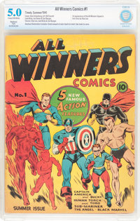 All Winners Comics #1 (Timely, 1941) CBCS Restored (Slight) VG/FN 5.0 Cream to off-white pages