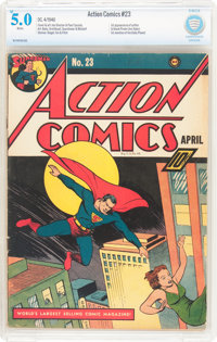 Action Comics #23 (DC, 1940) CBCS VG/FN 5.0 White pages