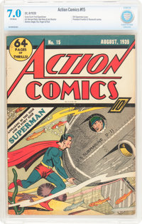 Action Comics #15 (DC, 1939) CBCS FN/VF 7.0 Off-white pages