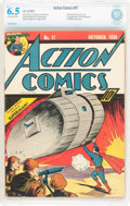 Golden Age (1938-1955):Superhero, Action Comics #17 (DC, 1939) CBCS FN+ 6.5 Cream to off-white pages....
