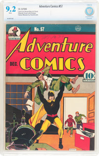 Adventure Comics #57 (DC, 1940) CBCS NM- 9.2 White pages