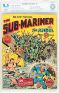 Golden Age (1938-1955):Superhero, Sub-Mariner Comics #1 (Timely, 1941) CBCS Restored VF+ 8.5 Cream to off-white pages....