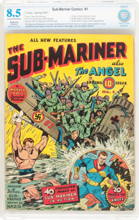 Sub-Mariner Comics #1 (Timely, 1941) CBCS Restored VF+ 8.5 Cream to off-white pages