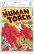 Golden Age (1938-1955):Superhero, The Human Torch #2 (#1) (Timely, 1940) CBCS Restored FN+ 6.5 Moderate (P) Off-white pages....