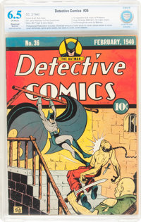 Detective Comics #36 (DC, 1940) CBCS Restored FN+ 6.5 Moderate (P) Off-white pages