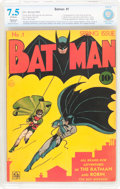 Golden Age (1938-1955):Superhero, Batman #1 (DC, 1940) CBCS Restored VF- 7.5 (Moderate) Off-white pages....