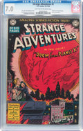 Golden Age (1938-1955):Science Fiction, Strange Adventures #2 (DC, 1950) CGC FN/VF 7.0 Light tan tooff-white pages....