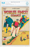 Golden Age (1938-1955):Superhero, World's Finest Comics #46 (DC, 1950) CBCS VF/NM 9.0 Off-white to white pages....