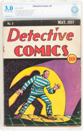 Platinum Age (1897-1937):Miscellaneous, Detective Comics #3 (DC, 1937) CBCS GD/VG 3.0 Cream to off-whitepages....