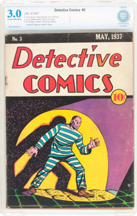 Detective Comics #3 (DC, 1937) CBCS GD/VG 3.0 Cream to off-white pages