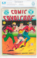Golden Age (1938-1955):Superhero, Comic Cavalcade #1 (DC, 1942) CBCS FN 6.0 Off-white to white pages....