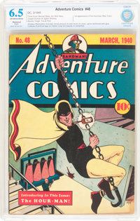 Adventure Comics #48 (DC, 1940) CBCS Restored FN+ 6.5 Slight (A) Off-white to white pages