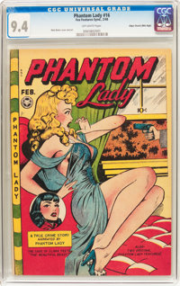 Phantom Lady #16 Mile High Pedigree (Fox Features Syndicate, 1948) CGC NM 9.4 Off-white pages