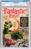 Silver Age (1956-1969):Superhero, Fantastic Four #1 (Marvel, 1961) CGC FN 6.0 Off-white to white pages....