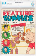 Golden Age (1938-1955):Humor, Feature Funnies #6 (Chesler, 1938) CBCS VF+ 8.5 White pages....