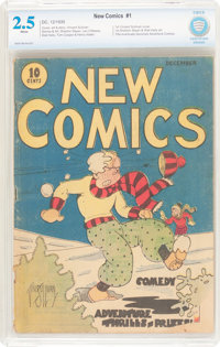 New Comics #1 (DC, 1935) CBCS GD+ 2.5 White pages