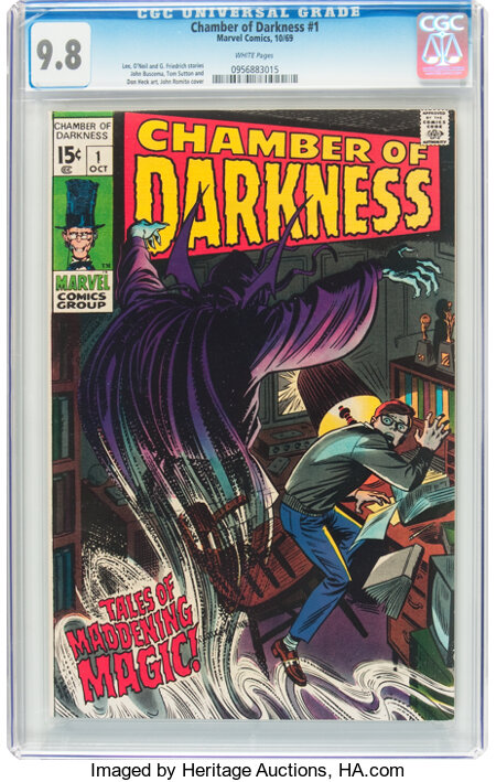 Chamber of Darkness #1 (Marvel, 1969) CGC NM/MT 9.8 White pages....