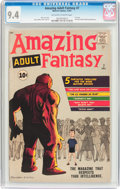 Silver Age (1956-1969):Science Fiction, Amazing Adult Fantasy #7 (Marvel, 1961) CGC NM 9.4 Off-white to white pages....