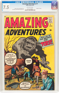 Amazing Adventures #1 (Marvel, 1961) CGC VF- 7.5 Off-white pages