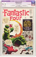 Silver Age (1956-1969):Superhero, Fantastic Four #1 Cover Trimmed (Marvel, 1961) CGC Apparent NM- 9.2Off-white to white pages....