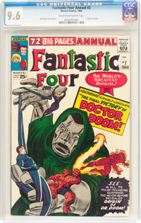 Fantastic Four Annual #2 (Marvel, 1964) CGC NM+ 9.6 Cream to off-white pages