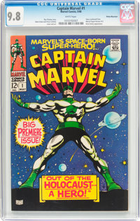 Captain Marvel #1 Rocky Mountain Pedigree (Marvel, 1968) CGC NM/MT 9.8 White pages