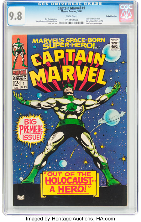 Captain Marvel #1 Rocky Mountain Pedigree (Marvel, 1968) CGC NM/MT 9.8 White pages....