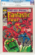 Silver Age (1956-1969):Superhero, Fantastic Four Annual #6 (Marvel, 1968) CGC NM+ 9.6 Off-white to white pages....