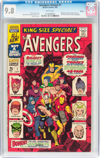 The Avengers Annual #1 Boston Pedigree (Marvel, 1967) CGC NM/MT 9.8 White pages