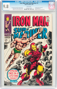 Iron Man and Sub-Mariner #1 (Marvel, 1968) CGC NM/MT 9.8 White pages