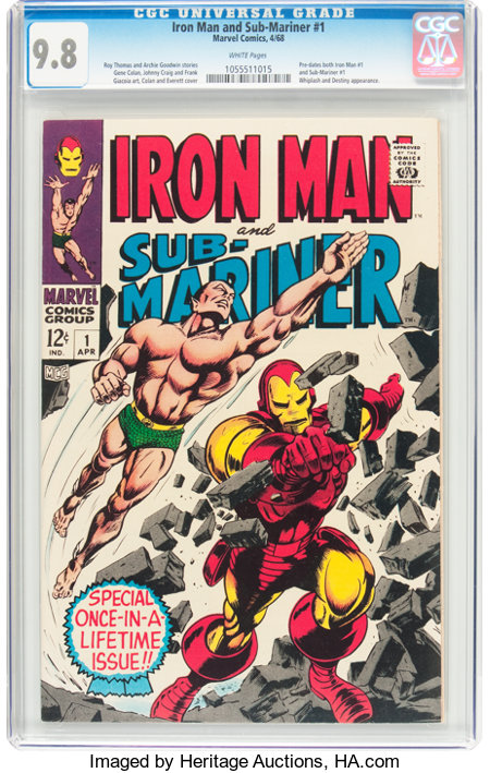 Iron Man and Sub-Mariner #1 (Marvel, 1968) CGC NM/MT 9.8 White pages....